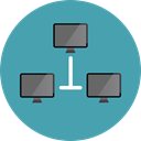 Laptop, Computer, transfer, technology, electronic, electronics, networking, computing Icon