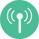 antenna, electronics, Communications, Wireless Connectivity, Wireless Internet CadetBlue icon