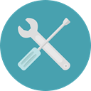 settings, Screwdriver, Wrench, repair, Setting, electronics, Tools And Utensils CadetBlue icon
