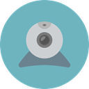 Videocam, Communications, video chat, Videocall, Cam, Webcam, technology, electronics MediumAquamarine icon