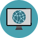 internet, Computer, monitor, screen, technology CadetBlue icon