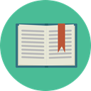 open book, School Material, Business, education, reader, reading, leisure CadetBlue icon