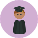 education, Graduate, mortarboard, Man, people, Cap, Boy Thistle icon