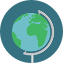 planet, Geography, Maps And Flags, Planet Earth, Earth Globe, Earth Grid, Maps And Location SeaGreen icon