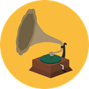 music, vinyl, Antique, gramophone, Vinyl Disc, Music And Multimedia SandyBrown icon