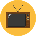 old, technology, electronics, vintage, Tv, screen, television, antenna SandyBrown icon