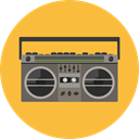 music, radio, technology, electronic, electronics, vintage, Communications SandyBrown icon