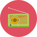 music, radio, technology, electronic, electronics, vintage IndianRed icon