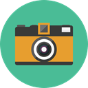 electronics, photograph, photo camera, Camera, photo, photography, technology CadetBlue icon