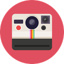 Camera, photo, photography, technology, electronics, photograph, photo camera IndianRed icon