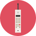 Conversation, Communications, phone call, Telephone Call, phone, Call, telephone, technology IndianRed icon