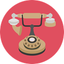 phone, telephone, technology, vintage, Communications, phone call IndianRed icon