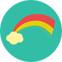 sun, weather, Rainbow, nature, spectrum, Atmospheric LightSeaGreen icon