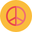 hippie, Peace, symbol, Shapes And Symbols, Cultures SandyBrown icon