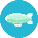 Hydrogen, Flying, Aircraft, zeppelin, transportation, transport LightSeaGreen icon