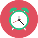 Clock, time, timer, alarm clock, Tools And Utensils, Time And Date IndianRed icon