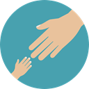 Protection, Hands, baby, Gesture, Hands And Gestures, Kid And Baby CadetBlue icon