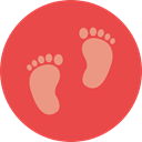 Foot, Footprint, baby, Footprints, barefoot, Kid And Baby Tomato icon