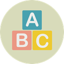 Baby Toy, Abecedary, Kid And Baby, Abc, letters, Fun LightGray icon