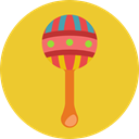 sound, Toy, baby, jingle, children, Rattle, Kid And Baby Goldenrod icon