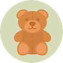 Animal, bear, Animals, children, teddy bear, childhood, puppet, Fluffy, Kid And Baby LightGray icon