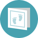 baby, newborn, Greeting Card, Kid And Baby CadetBlue icon