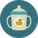 food, milk, feeding, Tools And Utensils, Feeding Bottle, Food And Restaurant, Kid And Baby SeaGreen icon