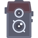 Camera, photo, photography, technology, electronics, vintage, photograph, photo camera DimGray icon