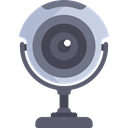 Cam, Webcam, technology, electronics, Videocam, Communications, video chat, Videocall Black icon