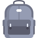 miscellaneous, travel, Backpack, luggage, baggage, Bags DarkGray icon