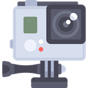 digital camera, camcorder, technology, electronics, domestic, video camera, gopro Gainsboro icon