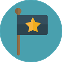 flag, flags, Peace, symbol, Country, Nation, Maps And Flags CadetBlue icon
