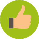 Finger, Like, thumb up, Hands, Gestures, Hands And Gestures YellowGreen icon