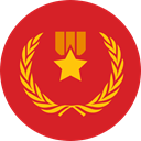 award, medal, Badge, Emblem, reward, insignia, Sports And Competition Crimson icon