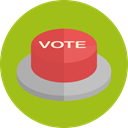 Badges, votes, Elections, Shapes And Symbols, vote, buttons, Circular YellowGreen icon