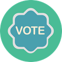 votes, Elections, Shapes And Symbols, vote, Circular, Badges CadetBlue icon