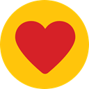 Like, shapes, Peace, lover, loving, Shapes And Symbols, Heart, interface Gold icon