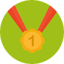First, medal, Prize, winner, sports, Best, gold medal, Sports And Competition YellowGreen icon
