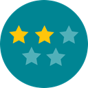rate, rating, shapes, signs, star, Favorite, Stars, Favourite, Shapes And Symbols DarkCyan icon