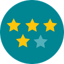 star, Favorite, Stars, signs, Shapes And Symbols, Favourite, rate, rating, shapes DarkCyan icon
