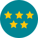 Favourite, rate, rating, shapes, signs, Shapes And Symbols, star, Favorite, Stars DarkCyan icon
