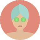 Face, medical, Female, woman, Mask, Beauty, Women, Masks, spa, treatment, Feminine DarkSalmon icon