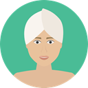 Female, woman, Beauty, spa, treatment, Feminine, Face, medical CadetBlue icon