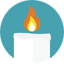 medical, light, Candle, Beauty, relax, stones, Relaxing CadetBlue icon