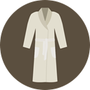 Clothes, clothing, fashion, spa, robe DarkOliveGreen icon