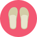 footwear, flip flops, Summertime, Fas, fashion, sandals Salmon icon