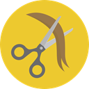scissors, miscellaneous, Beauty, Hairdresser, Comb, hair, Barber, Tools And Utensils Goldenrod icon