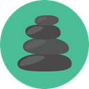 Beauty, relax, relaxation, stones, spa, Massages, Relaxing CadetBlue icon
