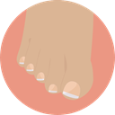 Foot, Beauty, treatment, Pedicure Tan icon