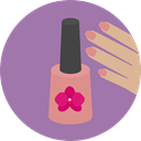 Hand, Beauty, treatment, nails, manicure RosyBrown icon